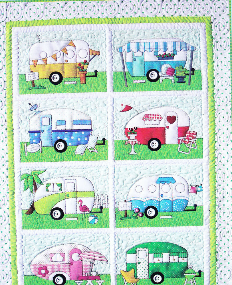 Campers Fun Pieced Amp Applique Quilt Pattern From Amy