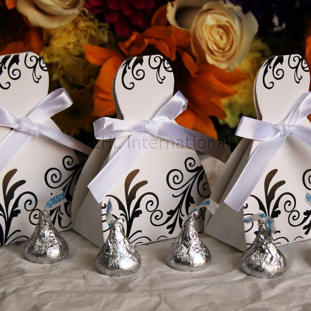 50 dress party favor boxes for weddings quinceaneras bridal showers