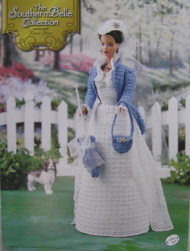 Annies Attic Southern Belle Fashion Bed Doll Crochet Pattern Flower ...
