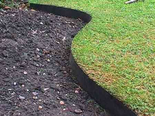Smartedge easy lawn edging plastic small garden border for Easy gardener lawn edging