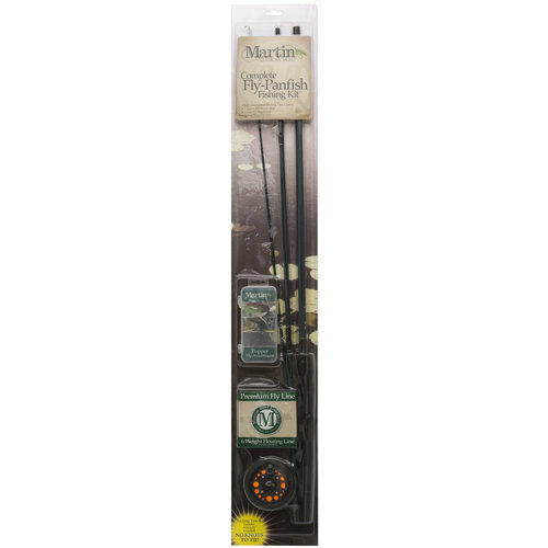 Martin complete fly panfish fishing kit with poppers ebay for Fly fishing combo kit