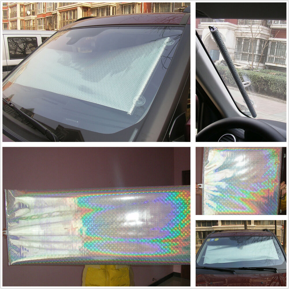 sunshade shade car suv front rear windshield retractable shield uv visor curtain ebay. Black Bedroom Furniture Sets. Home Design Ideas