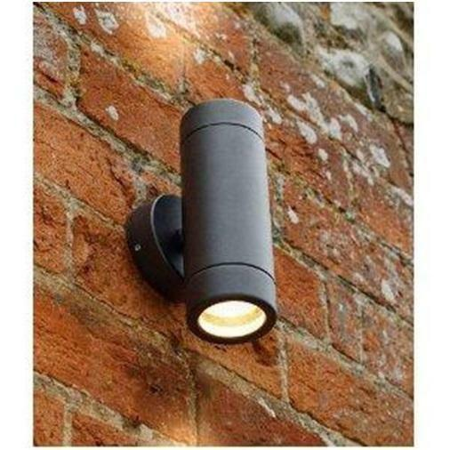 Led Black Outdoor Up Down Wall Light Ip65 Exterior Light
