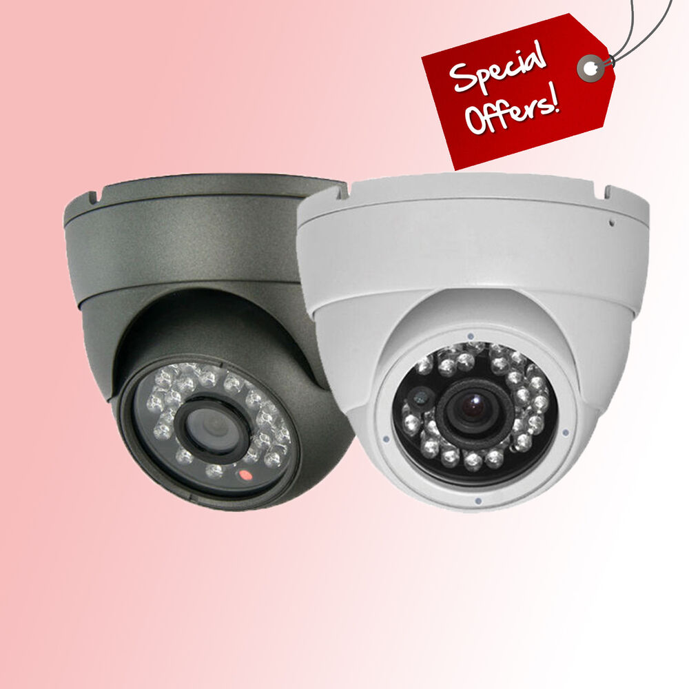 white grey dome metal outdoor waterproof cctv camera. Black Bedroom Furniture Sets. Home Design Ideas