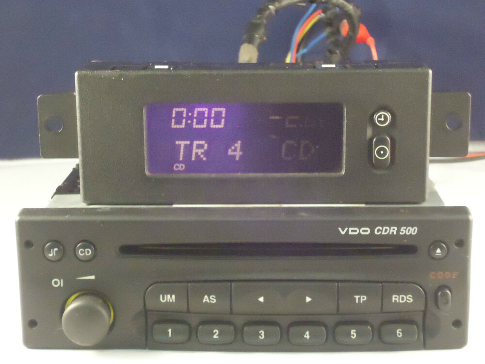 vauxhall vdo cdr 500 cd radio player and code astra vectra. Black Bedroom Furniture Sets. Home Design Ideas