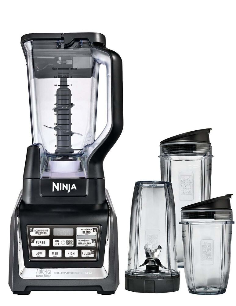 Nutri ninja 2hp blender duo with auto iq bl642 certified