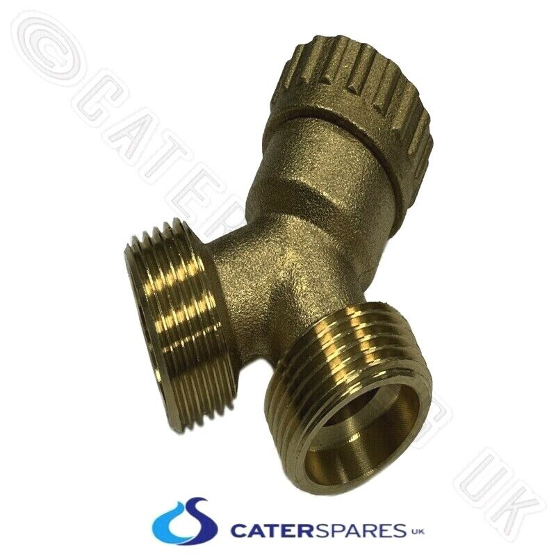 3 4 Quot X 3 4 Quot Brass Y Piece Splitter Twin Outlet Washing