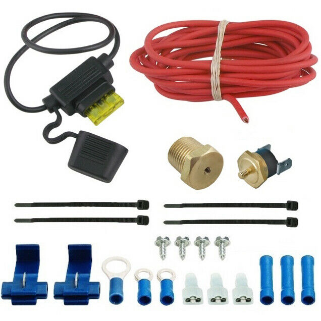 High Temperature Inline Fans : F electric fan thermostat inline fuse wire kit high