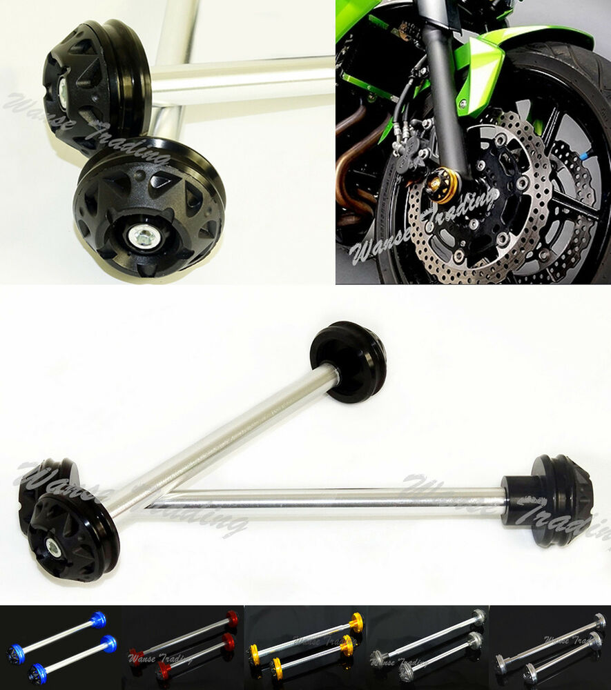 Front & Rear Axle Fork Crash Sliders Cap Protector For ...