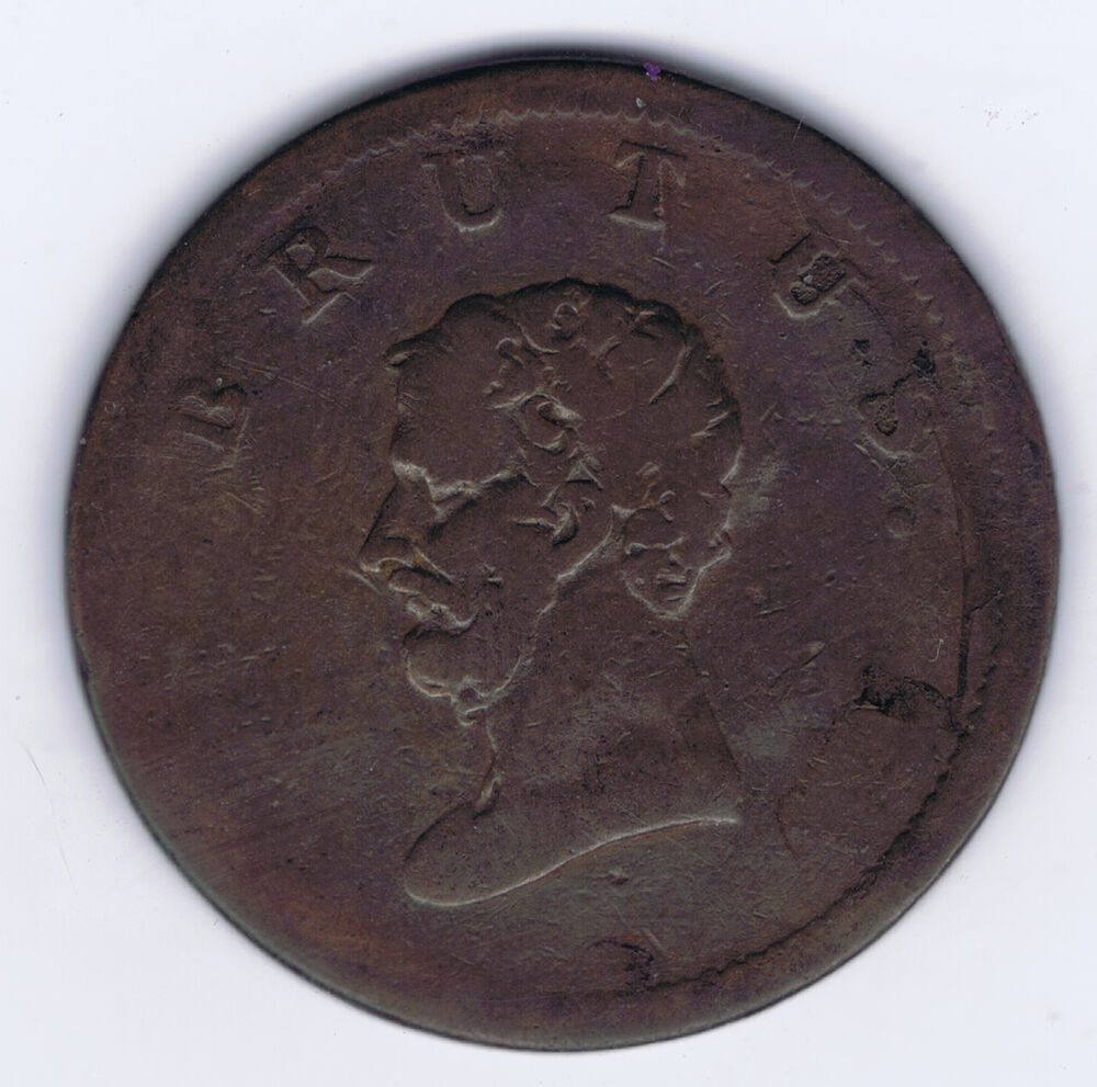 GREAT BRITAIN (NOT DATED) 1809-1870 HALF PENNY BRUTUS ...