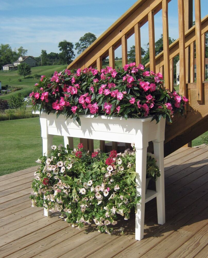 Garden Planter Potting Bench Outdoor Patio Deck Potted