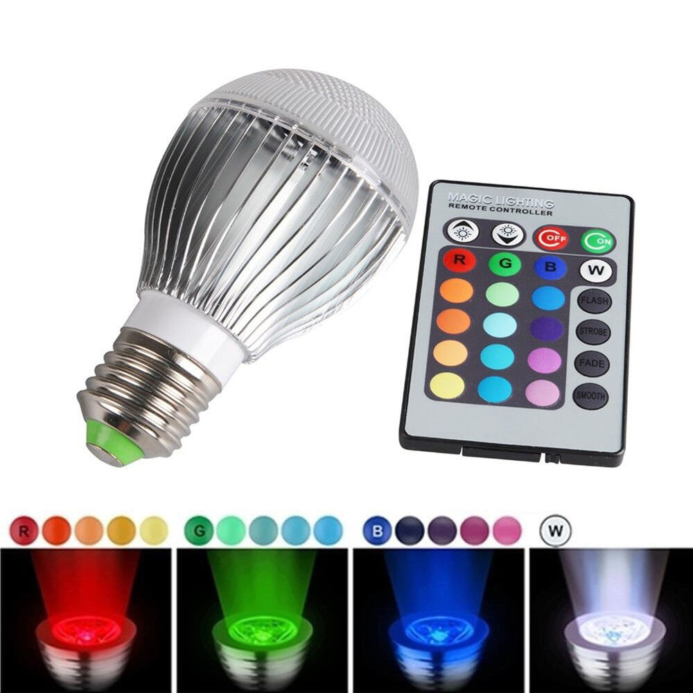30w E27 Led 16 Color Change Rgb Magic Light Bulb Lamp Ir Remote Control Ebay