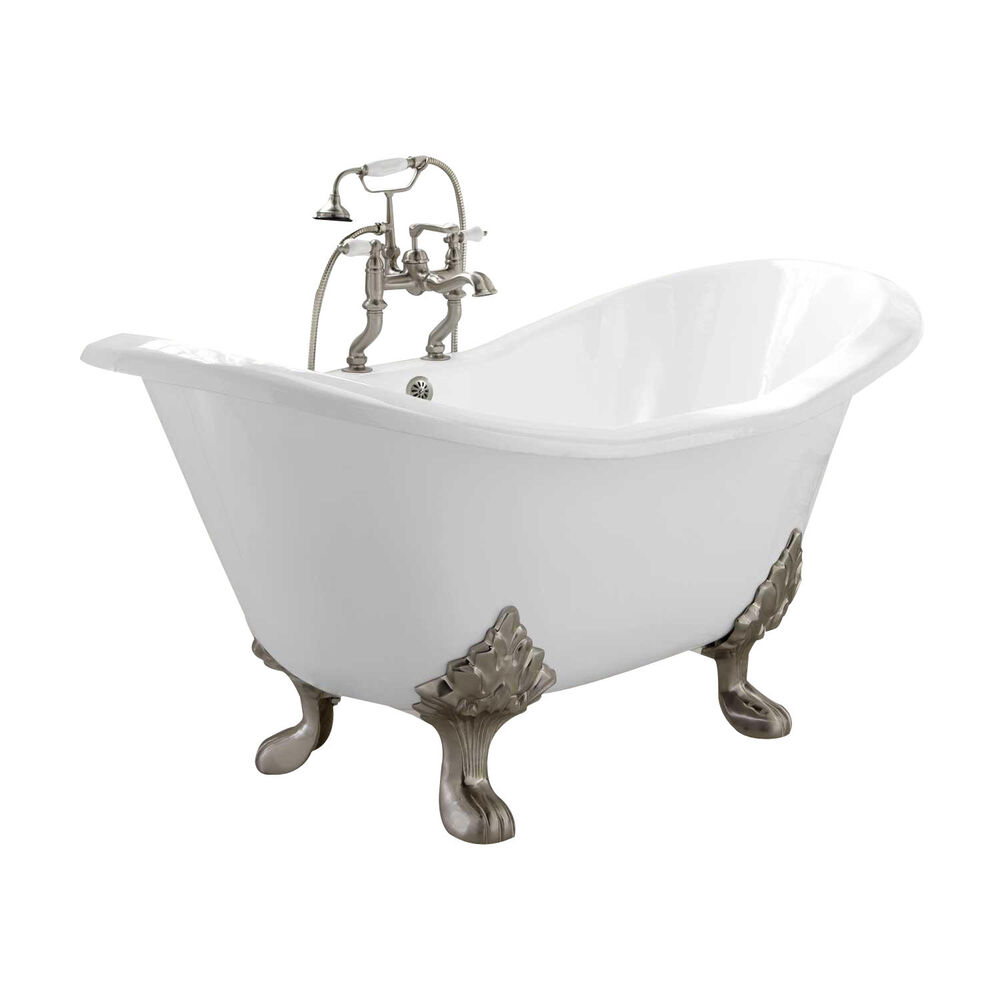 Naiture cast iron double slipper tub in 2 length and 5 for Tub length