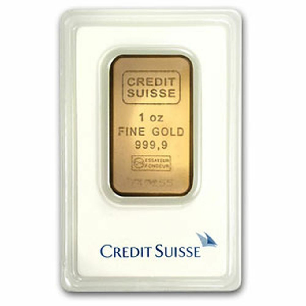 1 Oz Credit Suisse Gold Bar 9999 Fine Gold With Assay