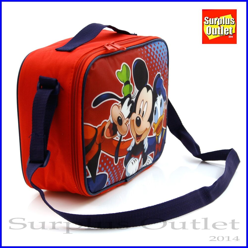 81ef9cdf215 Details about Mickey Insulated Lunch Bag Disney Mickey Mouse Insulated  Lunch Bag Snack Bag