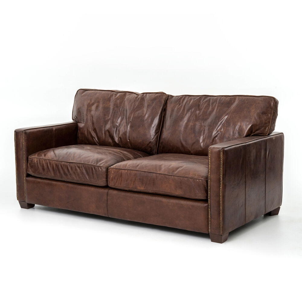 72 L Sofa Loveseat Top Grain Factory Distressed Leather