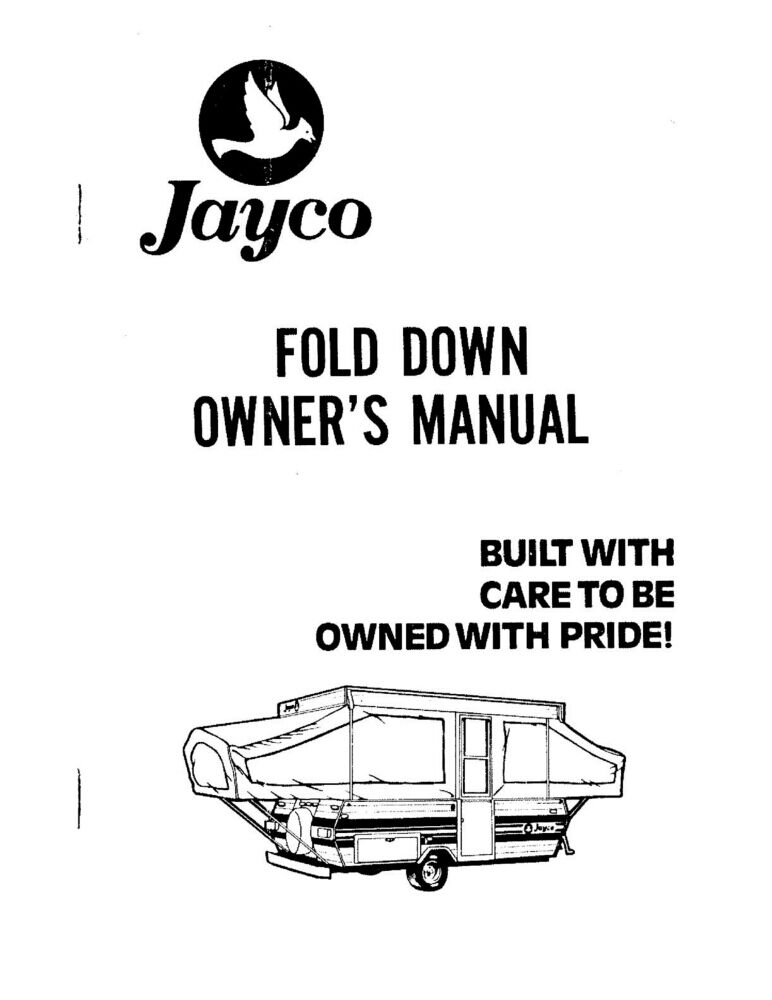 Manual For 1984 Jayco 705