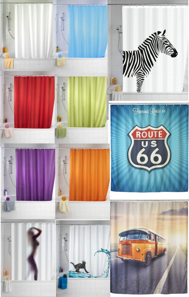 Shower Curtains Anti Mould Size 180 X 200cm Plain