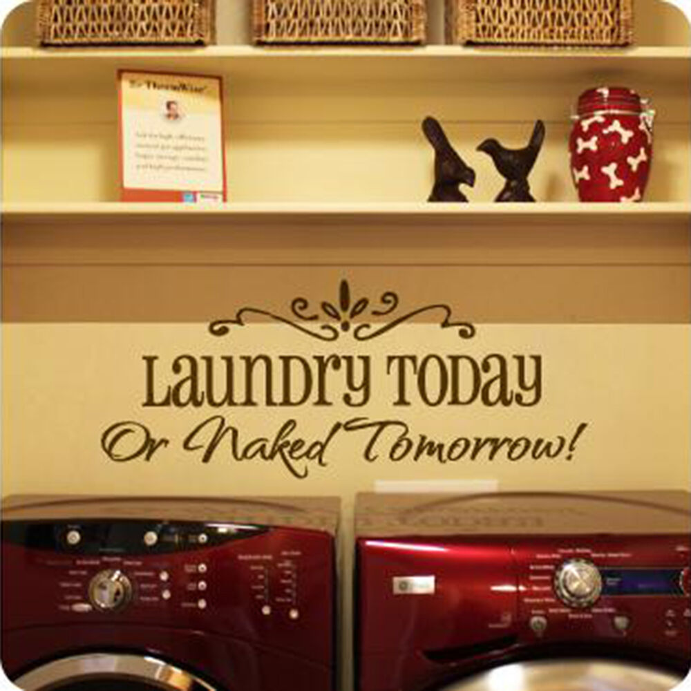 Laundry diy removable art vinyl quote wall sticker decal for Diy room decor quotes