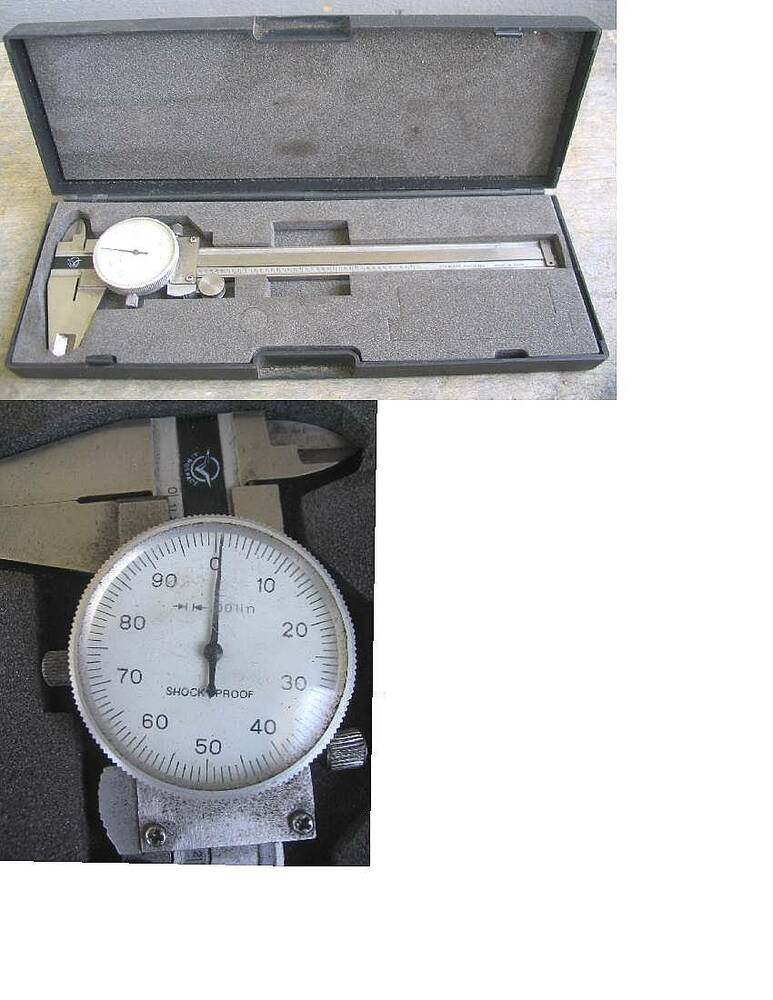 Aerospace Shock Proof Dial Calipers W  Case