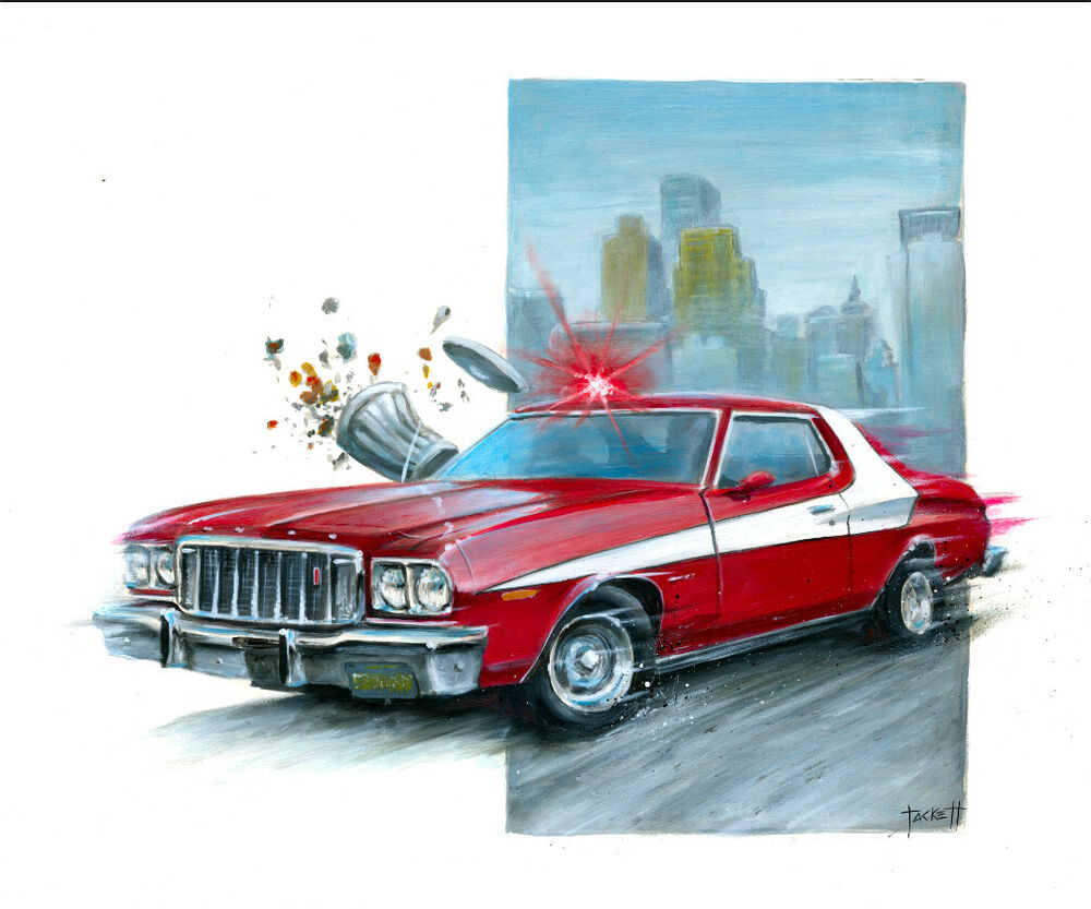 ford gran torino from starsky and hutch print by billy