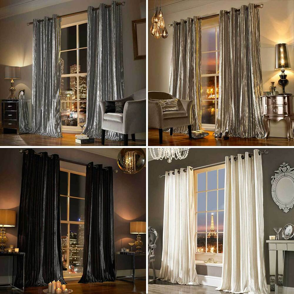 designer valances minogue iliana designer eyelet velvet ring top velour lined curtains ebay 6545