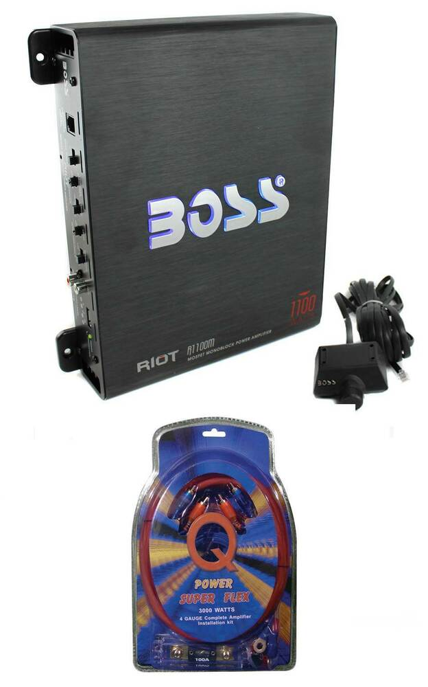 boss audio riot r1100m mono car amplifier amp sub bass. Black Bedroom Furniture Sets. Home Design Ideas