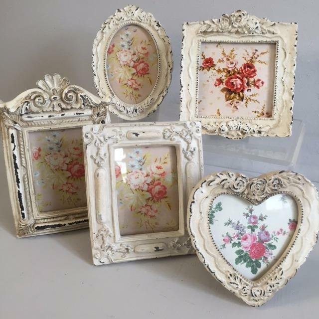Victorian style vintage shabby chic photo picture frame for Shabby chic frames diy