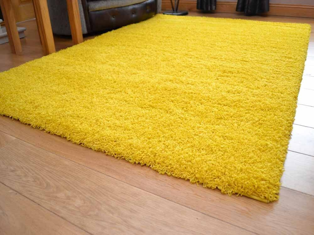 Bright Yellow Rug Home Decor