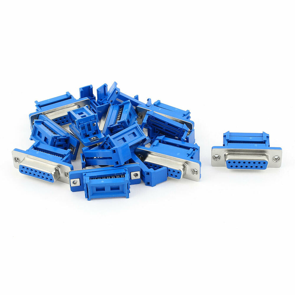 Types Of Ribbon Cable Connectors : Pcs d sub db pin female idc type adapter connector