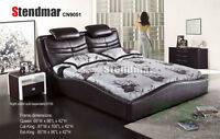 NEW MODERN STYLE LEATHERETTE PLATFORM BED CN9051