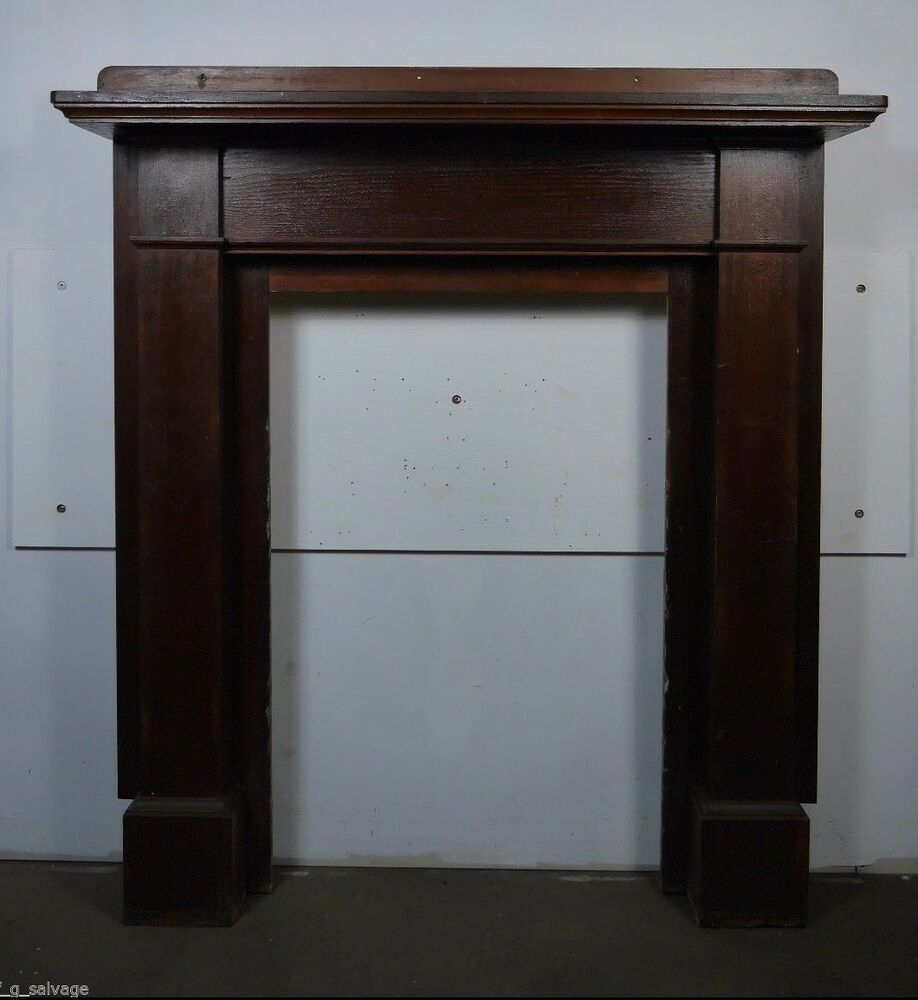 antique vintage fireplace mantel 1920 39 s pine craftsman