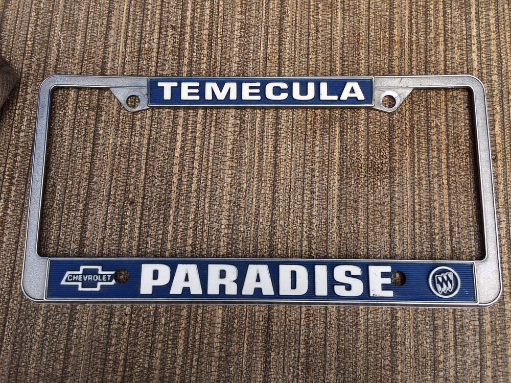 License Plate Frame Temecula California Paradice Chevrolet