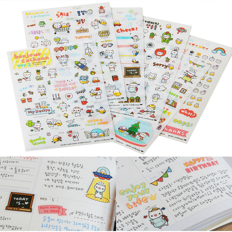 Diy Calendar Diary : Sheets creative diy calendar diary book sticker