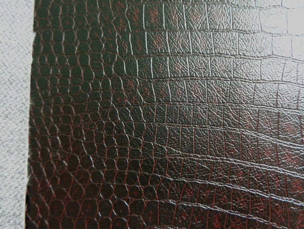New vinyl croco brown soft faux leather upholstery fabric for Fake leather upholstery