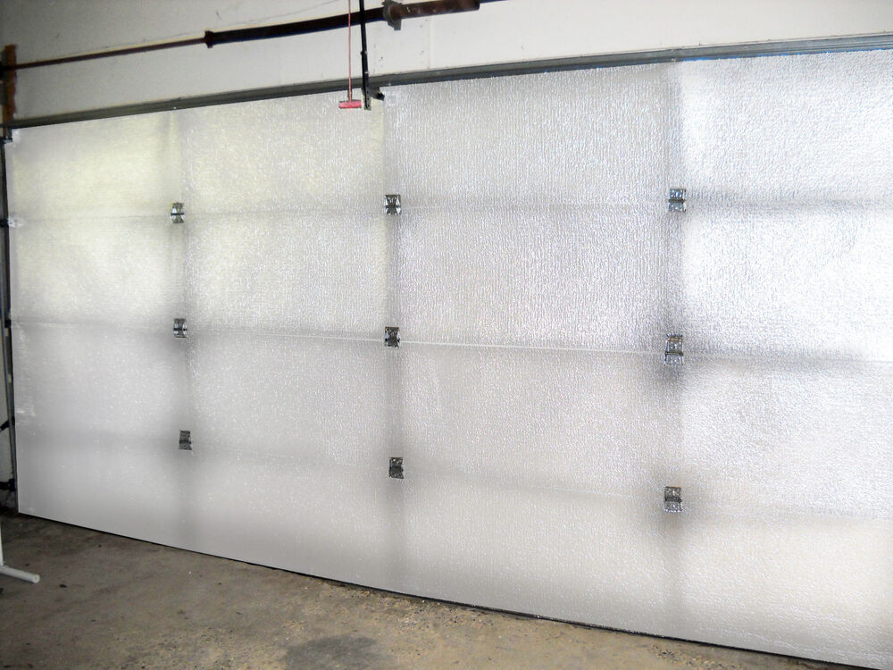 Supershield reflective white double car garage door