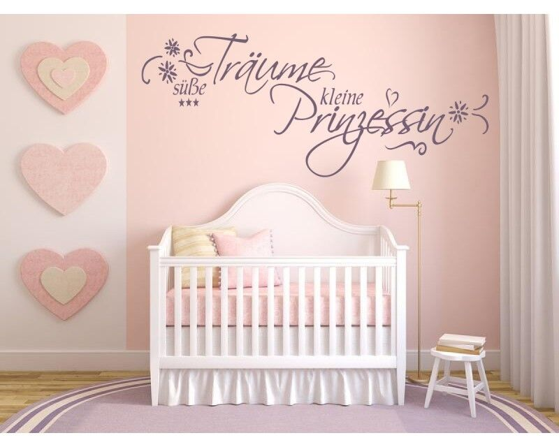 wandtattoo kinderzimmer baby aufkleber s e tr ume kleine prinzessin 72023 ebay. Black Bedroom Furniture Sets. Home Design Ideas