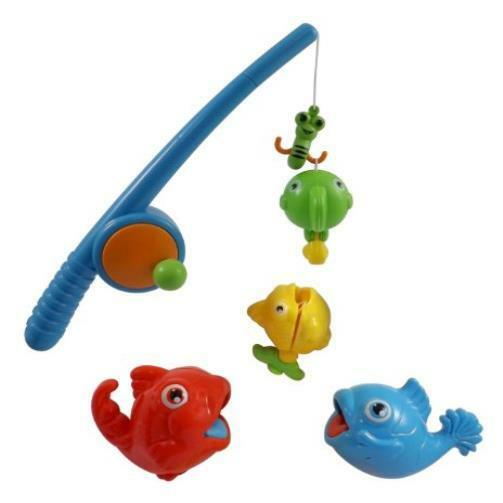 Toddler toy rod reel fishing game bath set for kids w for Baby fishing pole
