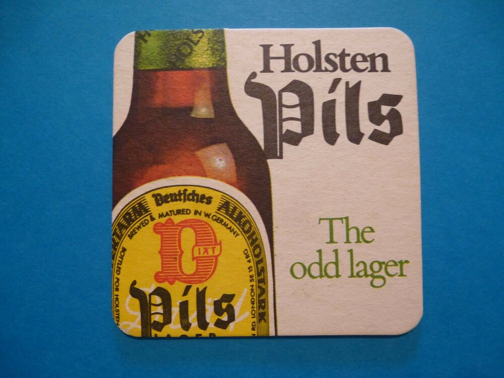 beer bierdeckel coaster brauerei holsten pils the odd lager hamburg germany ebay. Black Bedroom Furniture Sets. Home Design Ideas
