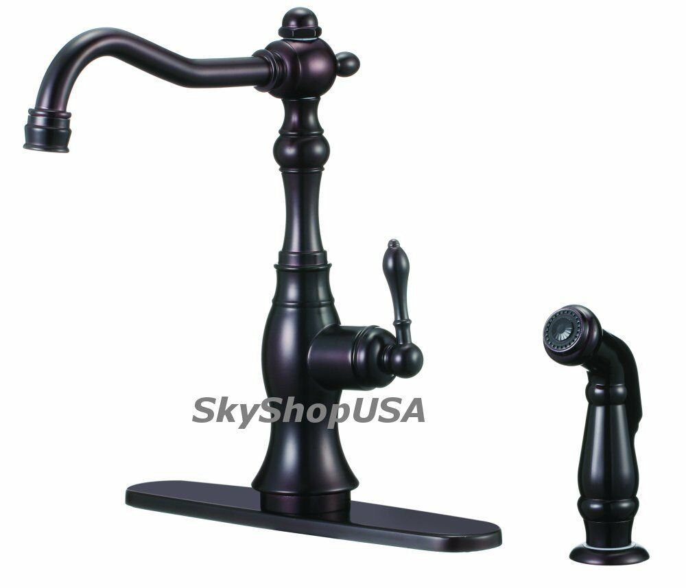 New Antique Style Oil Rubbed Bronze Kitchen Sink Faucet