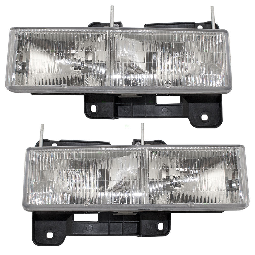Headlights Assembly Shop: New Pair Set Composite Headlight Headlamp Assembly GMC