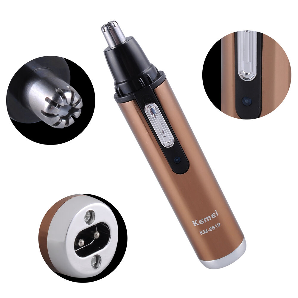 km 6619 rechargeable nose ear eyebrow hair trimmer shaver cleaner health care q1 ebay. Black Bedroom Furniture Sets. Home Design Ideas