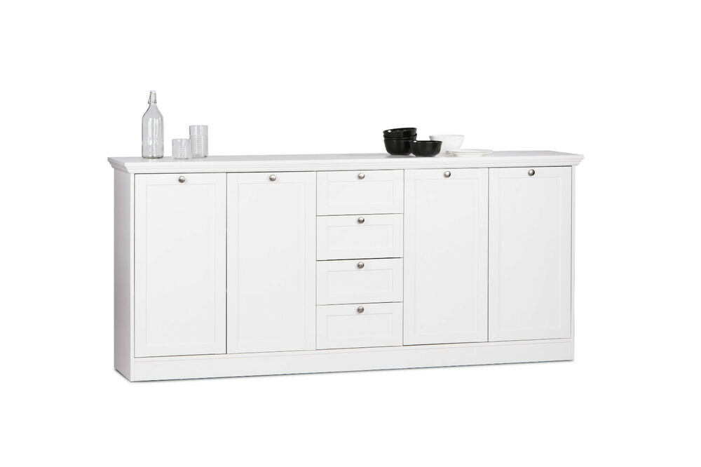 sideboard landwood anrichte kommode wohnzimmerschrank landhausstil wei ebay. Black Bedroom Furniture Sets. Home Design Ideas