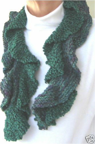 Ruffle Scarf Knitting Pattern : Noro HANA SILK Ruffled Right Scarf Knitting Pattern eBay