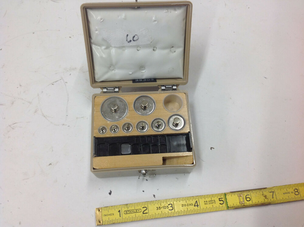 9 PC Ainsworth Stainless Scale Calibration Weight 100 50 ...