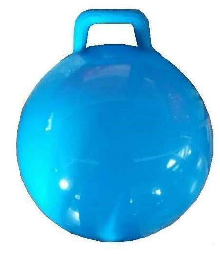 BLUE GIANT RIDE ON HOP BOUNCE BALL WITH HANDLE hopping ...