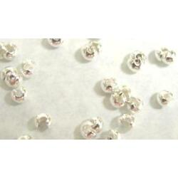 100 Silver Plated Crimp Tube Bead Covers 4 MM