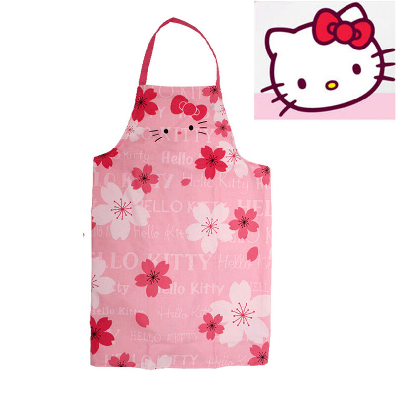 hello kitty cherry adult apron kitchen housework cooking. Black Bedroom Furniture Sets. Home Design Ideas