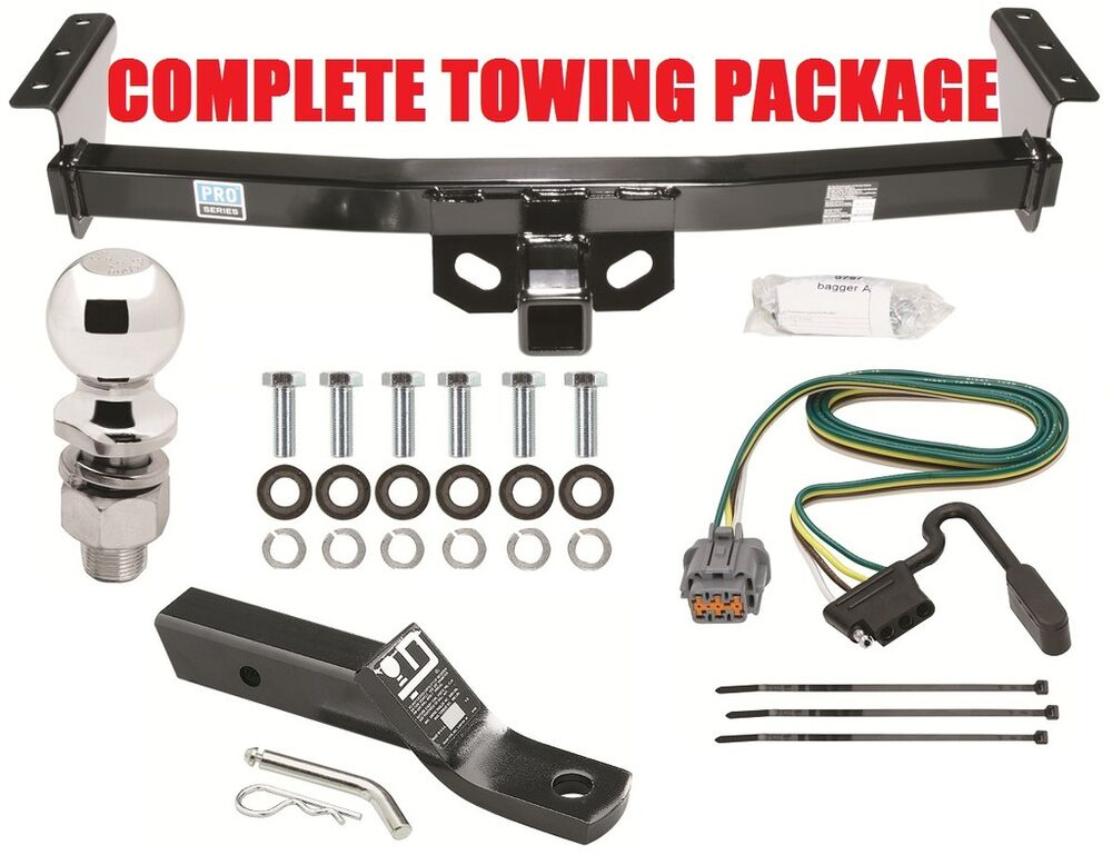 Nissan Xterra Trailer Hitch Wiring Harness : Complete trailer hitch package quot ball wiring mount