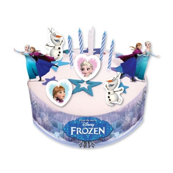 Disney Cake Decor : DISNEY FROZEN CAKE DECORATING SET with PICKS, CANDLES and ...